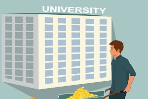 Expensive education concept, vector