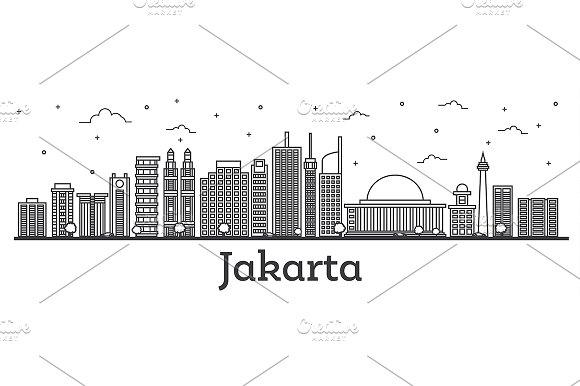 Outline Jakarta Indonesia City