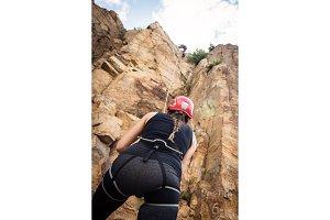 Young Climbers Rock Climbing