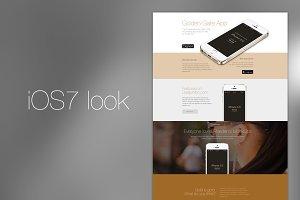iOS7 App Retina Template (PSD)