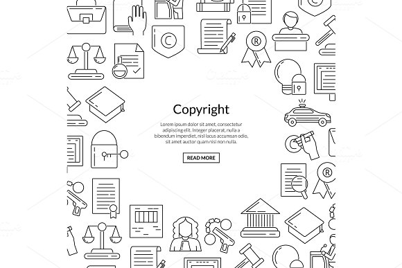 Vector Linear Style Copyright Elements