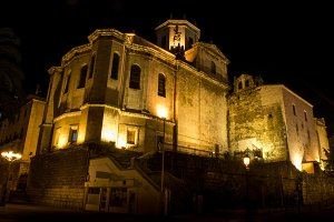 Santander Cathedral, night photo