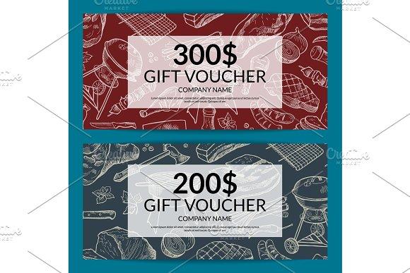 Vector Discount For Butchers Shop