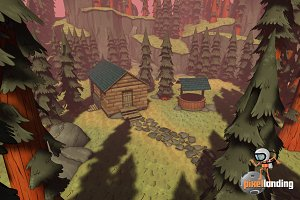 Pacific NW Forest: Toon Low Poly