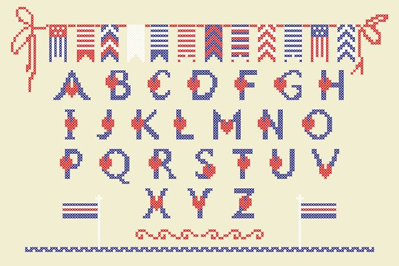 LOVELY-DAY-COLOR-CROSSSTICH Font