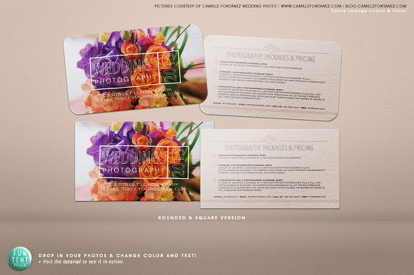 3.5 x 2 wedding photo business card - Business Cards