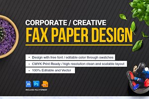 Fax Paper Cover Sheet