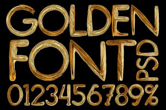 Golden Font PSD