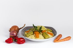 Cuscus Marroqui homemade.Isolated