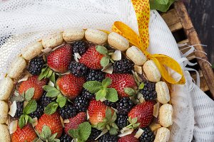Summer fruit cake tiramisu