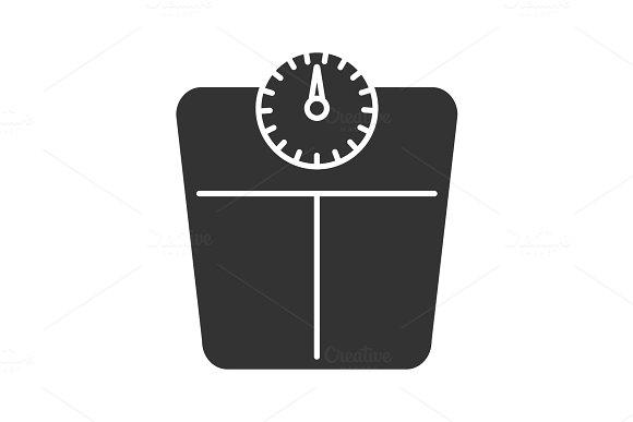 Bathroom Scales Glyph Icon