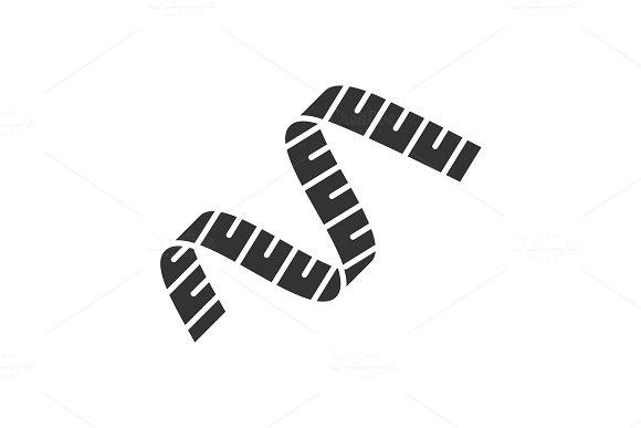 Measuring Tape Glyph Icon