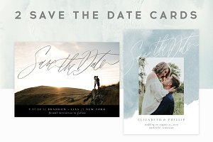 2 save the date cards