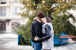 Winter snowfall love