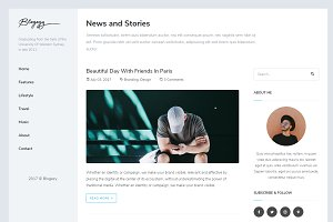 Blogezy - HTML5 Blog Template