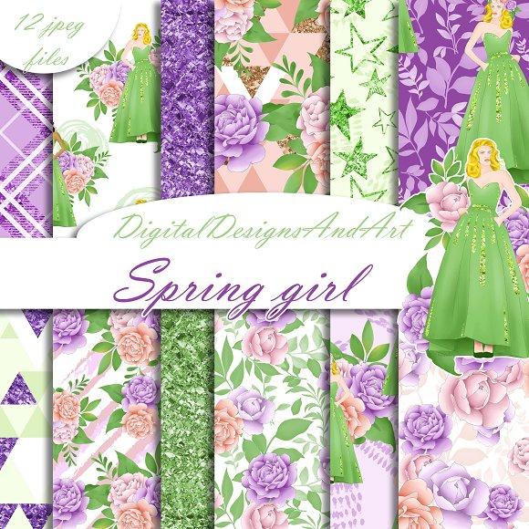 Spring Girl Pattern