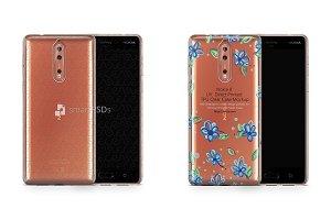 Nokia 8 UV TPU Clear Case Mockup