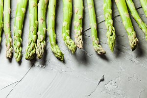 Asparagus bunch close up