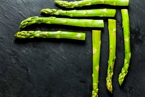 Asparagus close up