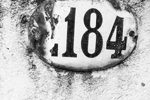 Vintage Number Address