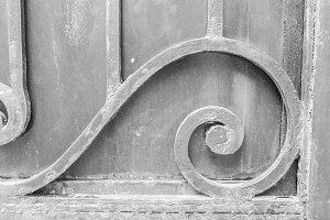 Orrnament Iron Door Detail