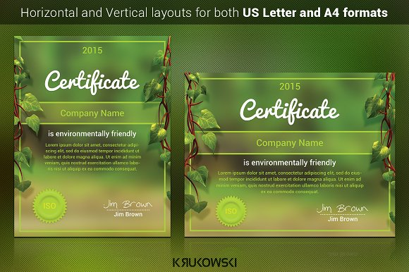 Natural Certificate Template