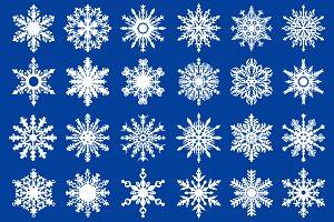 24 Vector Snowflakes