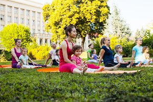 Yoga with children