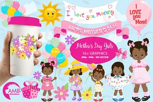 Mothers day kids Clipart, AMB-1802