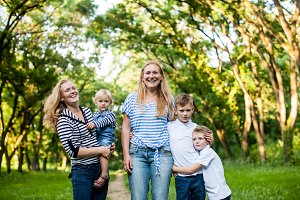 Happy family photosession