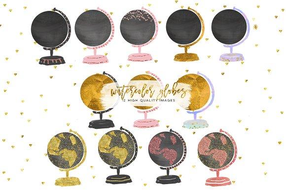 Watercolor Globes Globe Clip Art C
