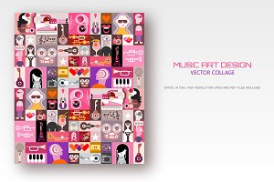 Music Art Design vector illustration