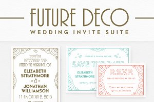 FutureDeco Wedding Invite Suite