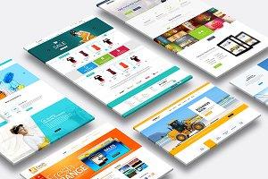 Multi Dimension Website Mock-Up 02