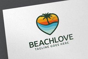 Beach Love Logo Template