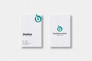 B Letter Logo & Vertical Business Ca