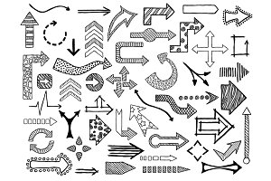 49 Doodle arrows collection