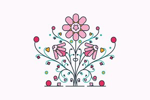 Vector Rosebush Design