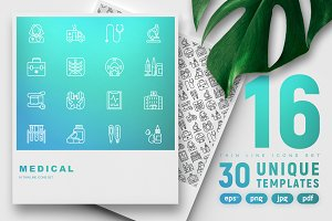 Medical Icons Set | 30 Templates