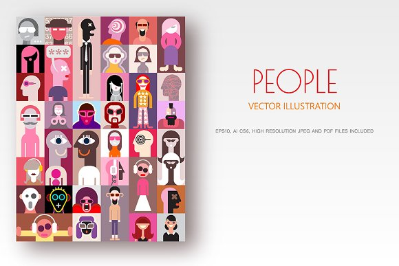 People Pop-art Collage