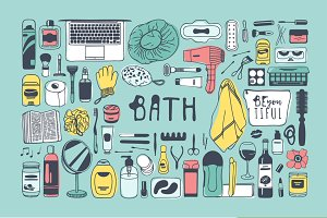 Bath objects + 6 patterns + 9 sets