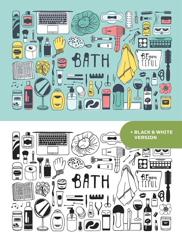 Bath Objects 6 Patterns 9 Sets