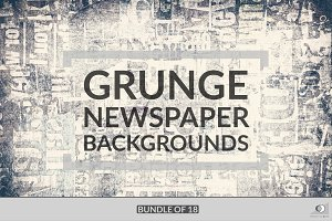 Grunge Newspaper Bundle