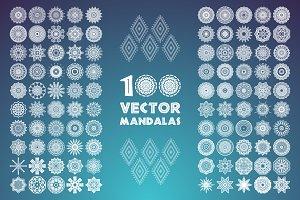 100 vector mandalas