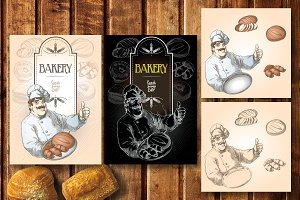 Baker and bakery set