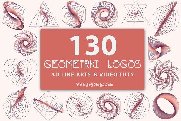 Geometric Logo Generator 3D Line Ar…