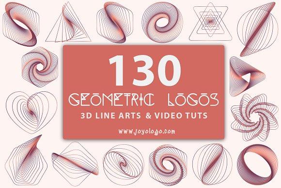 Geometric Logo Generator 3D Line Art