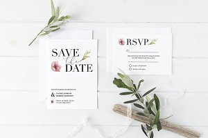 Chic save the date & RSVP templates