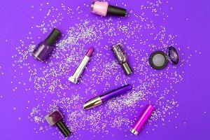 Make up violet with sparkles.