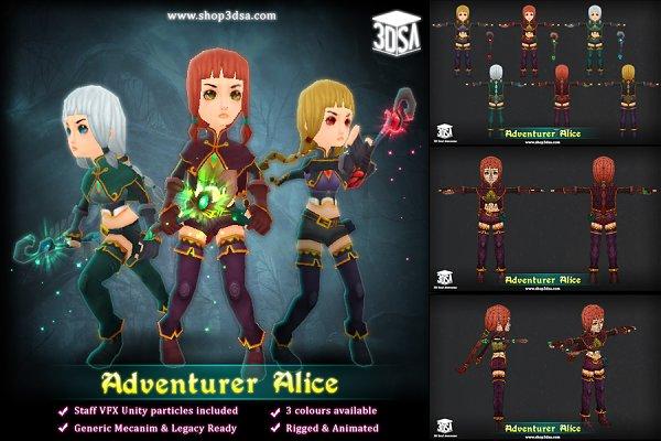3D Fantasy: Meshtint Studio - Adventurer Alice